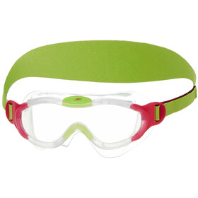 speedo Biofuse Sea Squad Mask Kids passion pink/hydro green